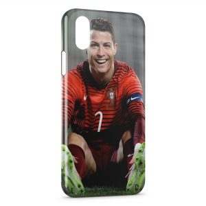 Coque iPhone XS Max Cristiano Ronaldo Football 36