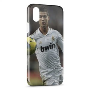 Coque iPhone XS Max Cristiano Ronaldo Football 37