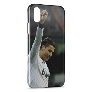 Coque iPhone XS Max Cristiano Ronaldo Football 38
