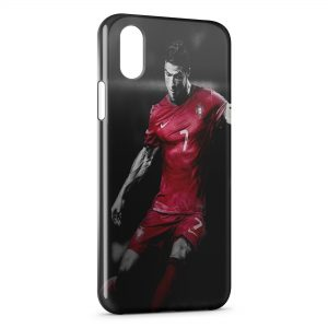 Coque iPhone XS Max Cristiano Ronaldo Football 39