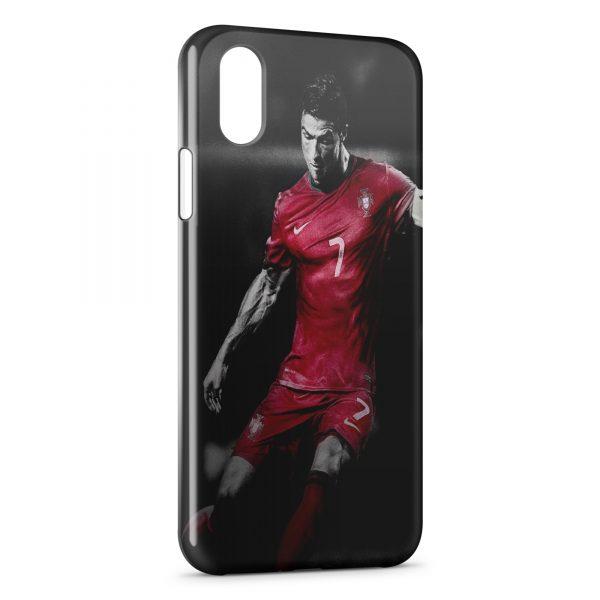 Coque iPhone XS Max Cristiano Ronaldo Football 39