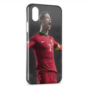 Coque iPhone XS Max Cristiano Ronaldo Football 4