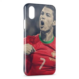 Coque iPhone XS Max Cristiano Ronaldo Football 40