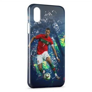Coque iPhone XS Max Cristiano Ronaldo Football 42