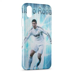 Coque iPhone XS Max Cristiano Ronaldo Football 44