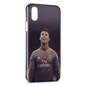 Coque iPhone XS Max Cristiano Ronaldo Football 45