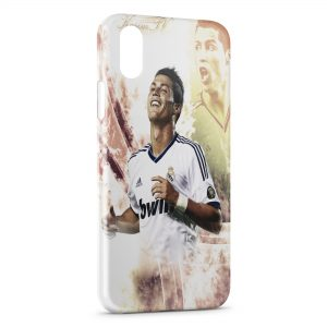 Coque iPhone XS Max Cristiano Ronaldo Football 46