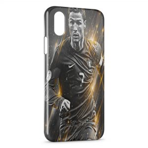 Coque iPhone XS Max Cristiano Ronaldo Football 47