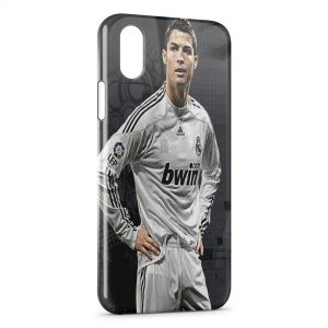 Coque iPhone XS Max Cristiano Ronaldo Football 49