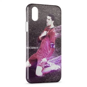 Coque iPhone XS Max Cristiano Ronaldo Football 51