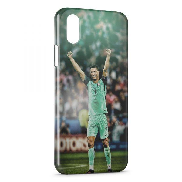 Coque iPhone XS Max Cristiano Ronaldo Football 52