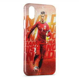 Coque iPhone XS Max Cristiano Ronaldo Football 53