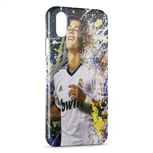 Coque iPhone XS Max Cristiano Ronaldo Football 54