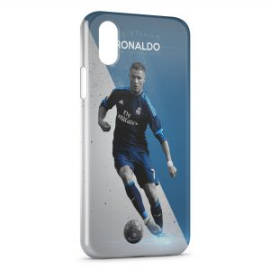 Coque iPhone XS Max Cristiano Ronaldo Football 56