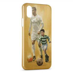 Coque iPhone XS Max Cristiano Ronaldo Football 57