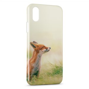 Coque iPhone XS Max Cute Fox Renard 4