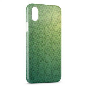 Coque iPhone XS Max Damier vert Design