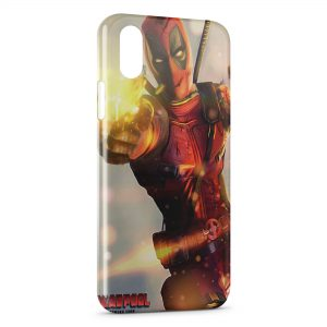 Coque iPhone XS Max Deadpool Gun