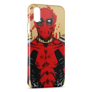 Coque iPhone XS Max Deadpool Vintage Art