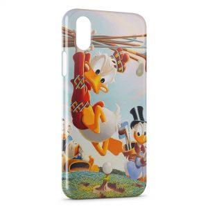 Coque iPhone XS Max Donald Duck au Golf