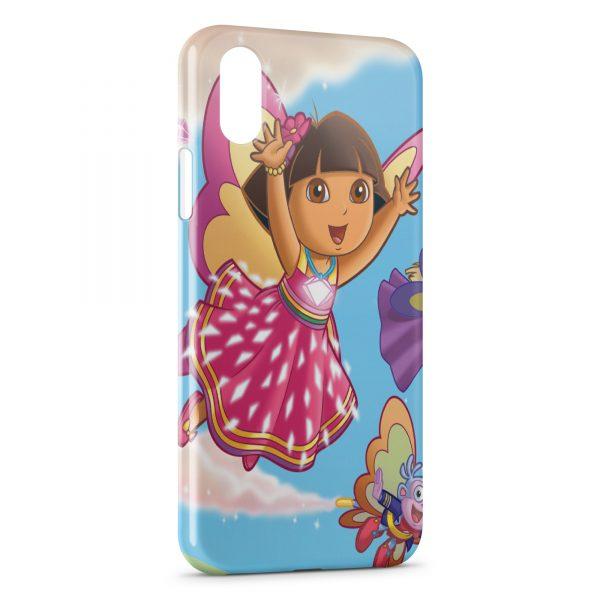 Coque iPhone XS Max Dora l'exploratrice Fée Rose