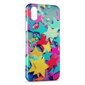 Coque iPhone XS Max Etoiles Colorées Scrapbooking