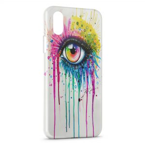 Coque iPhone XS Max Eye Colors Power