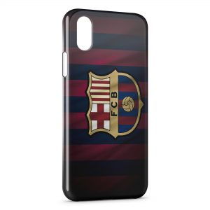Coque iPhone XS Max FC Barcelone FCB Football 40