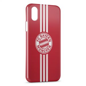 Coque iPhone XS Max FC Bayern Munich Allemagne Football Red