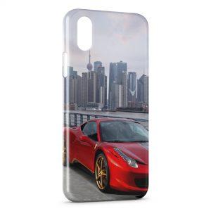 Coque iPhone XS Max Ferrari City Red Voiture