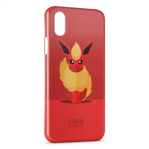 Coque iPhone XS Max Flareon Pokemon Art