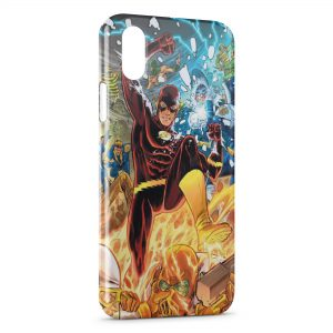 Coque iPhone XS Max Flash & Marvel Comics Design