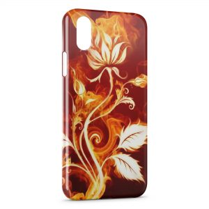 Coque iPhone XS Max Fleur in Fire