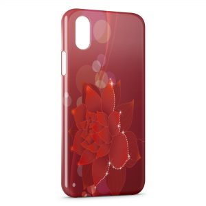 Coque iPhone XS Max Fleur rouge
