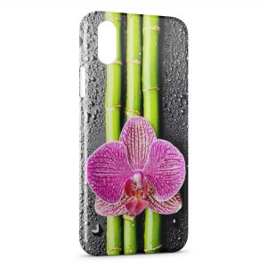 Coque iPhone XS Max Fleurs Bambou