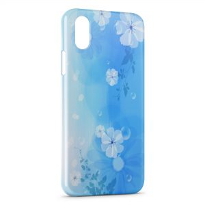 Coque iPhone XS Max Fleurs Blue Style