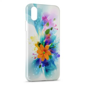 Coque iPhone XS Max Fleurs Glossy