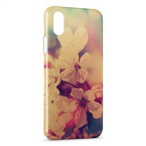 Coque iPhone XS Max Fleurs Vintage