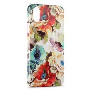Coque iPhone XS Max Flowers Fleur Peinture