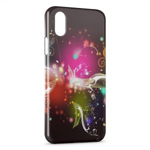 Coque iPhone XS Max Flowers Multicolor Design