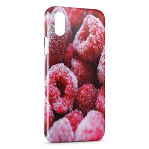 Coque iPhone XS Max Framboises Gelées