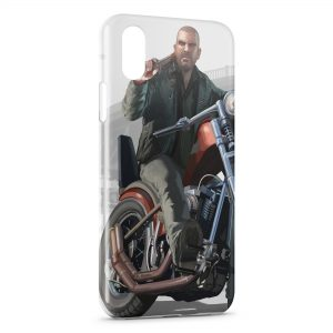 Coque iPhone XS Max GTA Moto