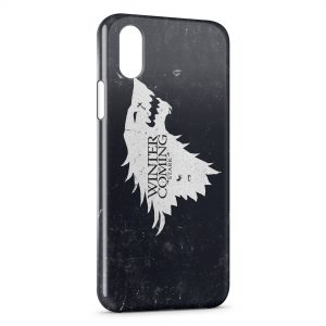 Coque iPhone XS Max Game of Throne Winter is Coming Stark