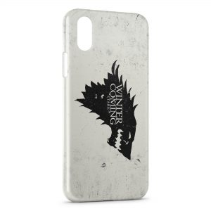 Coque iPhone XS Max Game of Thrones Winter is coming 3