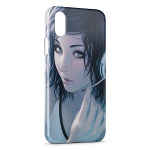 Coque iPhone XS Max Girl & Music