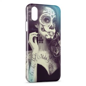 Coque iPhone XS Max Girl Tatouages
