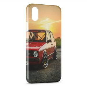 Coque iPhone XS Max Golf Volkswagen GTI Rouge Vintage