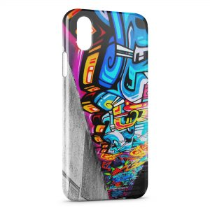 Coque iPhone XS Max Graph Tag Art