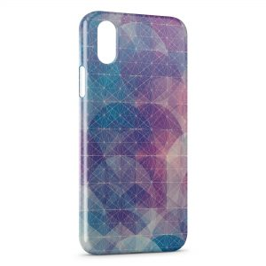 Coque iPhone XS Max Graphic Design Blue & Violet