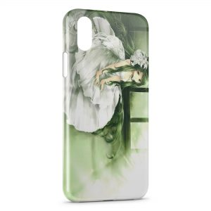 Coque iPhone XS Max Green Manga Girl